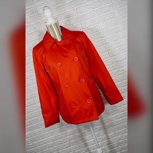 New York & Company Red Pea Coat